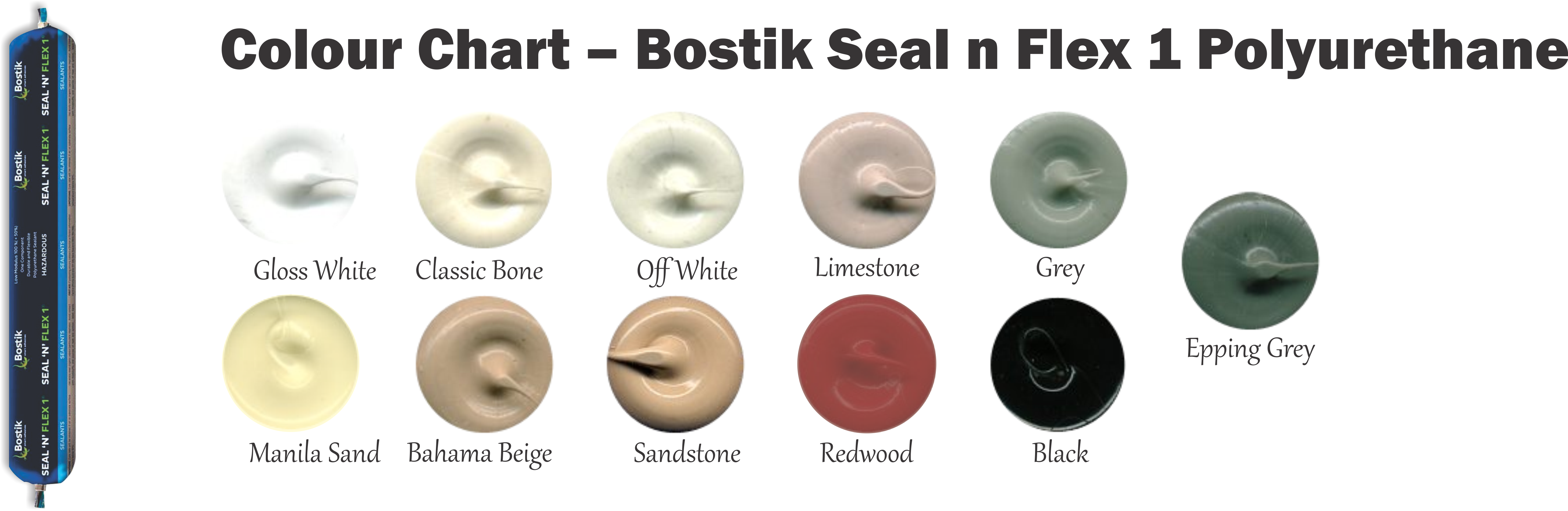Colour Chart Bostik Seal n Flex 1 Polyurethane