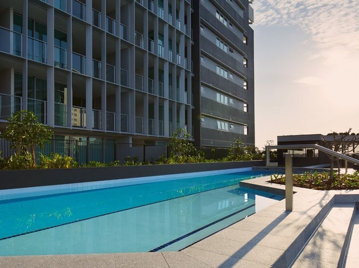 External Polyurethane to Hotel Swimming Pool